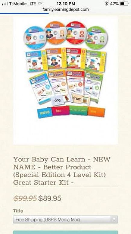 ad your baby can read