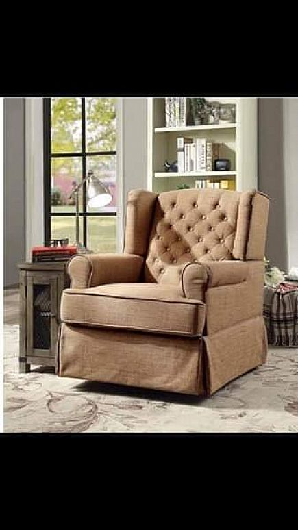 ad brown brand new rocking chair , one size in brown color