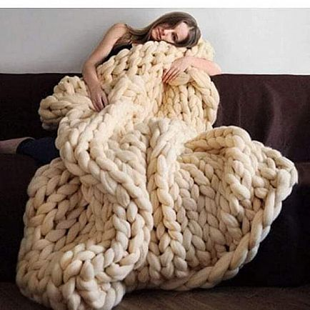 ad honana wx-685 warm winter luxury handmade crocheted bed knitted sofa cover blanket warm thick thread
