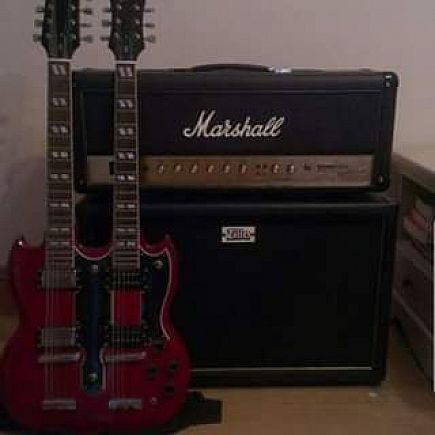 ad epiphone sg1275 double neck - cherry red - unsung 2004