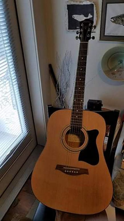 ad ibanez ijv50 acoustic guitar--great shape