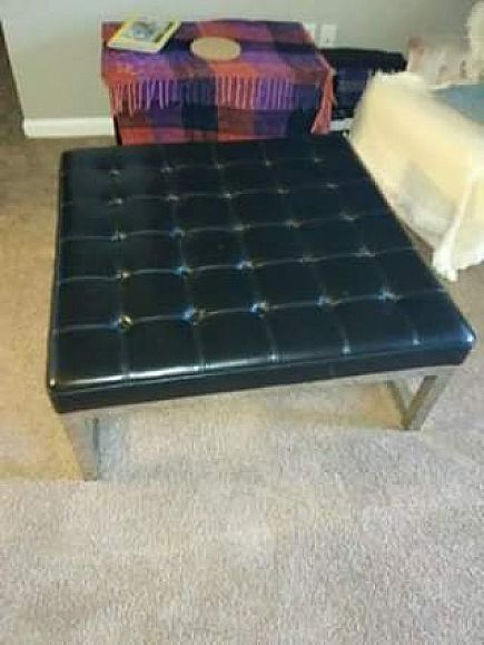 ad leather ottoman/coffee table