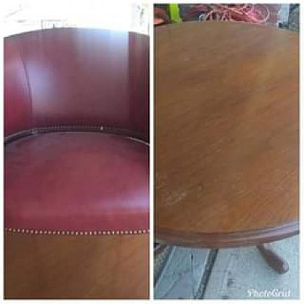 ad round table and 4 chairs