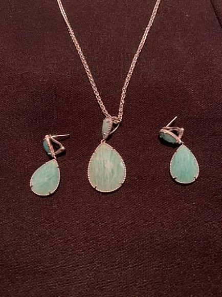 ad effy amazonite necklace and earring pair