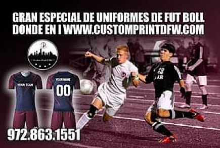 ad soccer team uniforms