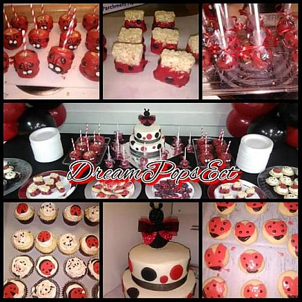 ad event decor and dessert tables