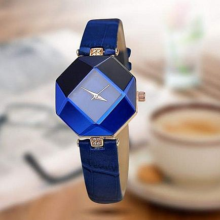 ad women watches geometry crystal leather 5 colors