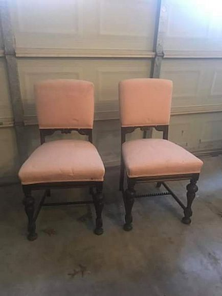 ad jacobean or barley twist chairs
