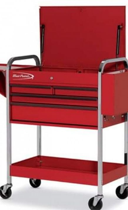 ad blue point roll cart tool box
