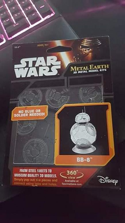 ad star wars metal earth bb8 model