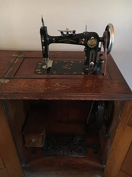 ad montgomery ward double door treadle sewing machine from 1890