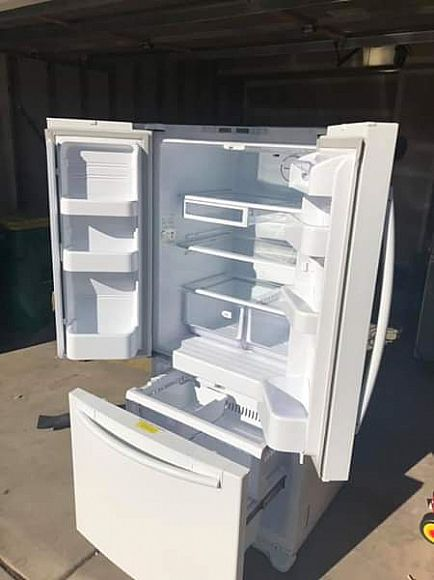 ad samsung french door refrigerator w/ freezer pull out