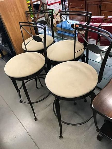 ad set of four countertop stools