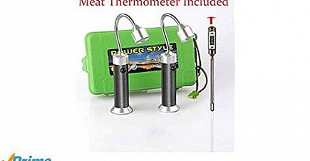 ad bbq light/grill light with meat thermometer
