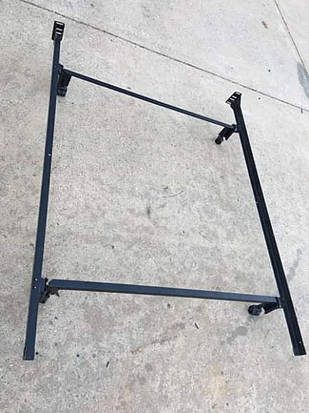 ad full bed frame heavy duty no tools required like new!!