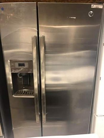 ad new ge s/s refrigerator 33in