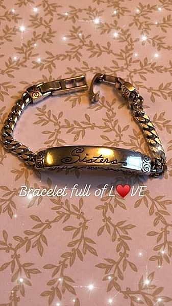ad brighton 'sisters' silver chain bracelet preowned