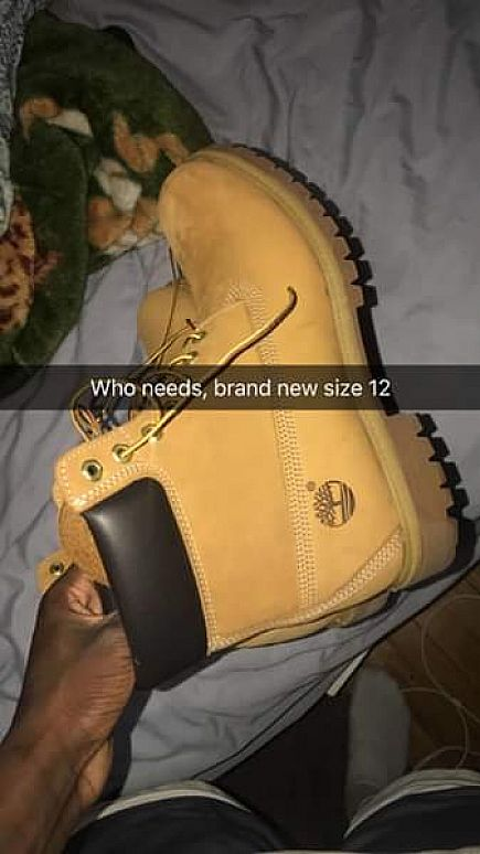 ad brand new never worn timberlands size 12