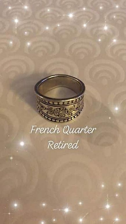 ad brighton sterling silver ring sz 6 gorgeous design
