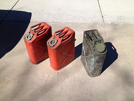 ad old army fuel / gas cans