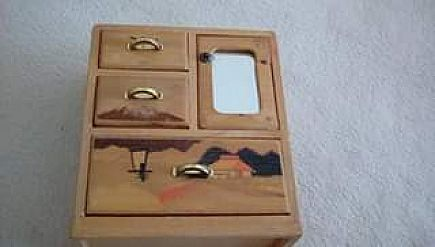 ad wooden jewelry biz from japan. vintage