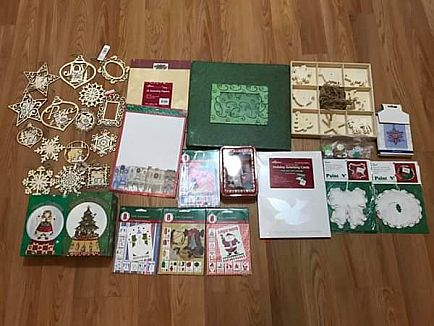 ad new christmas ornaments,crafts and scrapbooking bundle