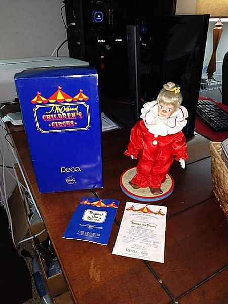 ad tommy the clown porcelain doll