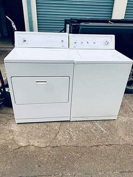 ad kenmore super capacity washer and dryer set , with warranty