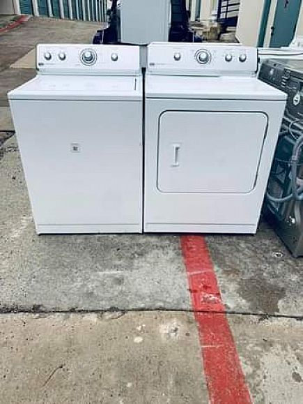 ad maytag centennial washer and dryer set with warranty