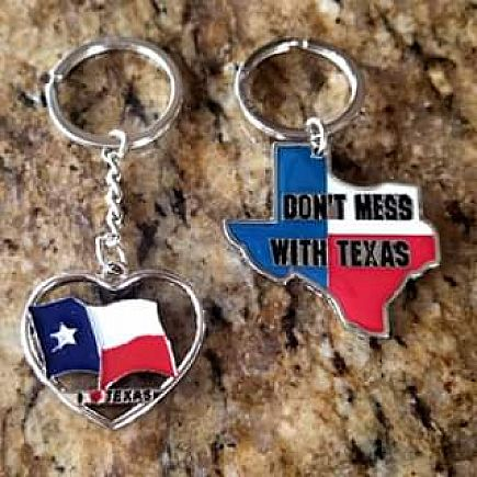 ad set of two texas keychains