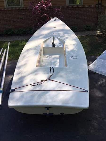 ad laser sailboat with dolly
