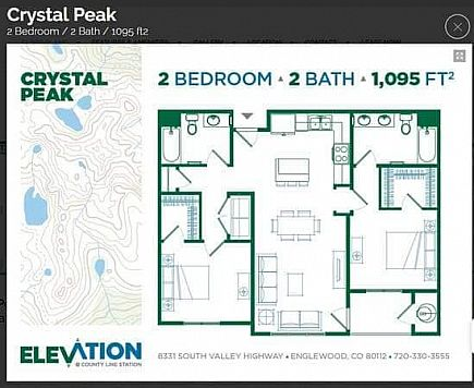 ad amazing 2 bedroom, 2 bath apartment with full washer/dryer in unit at elevation @ county line