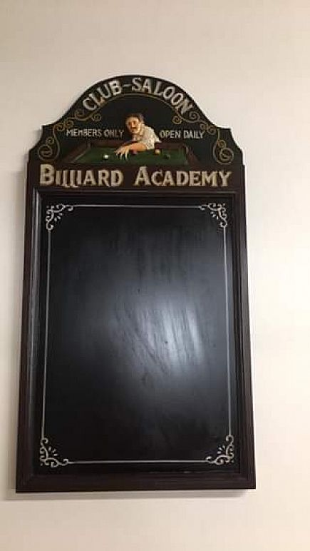 """ad 29"""" game room chalk board 