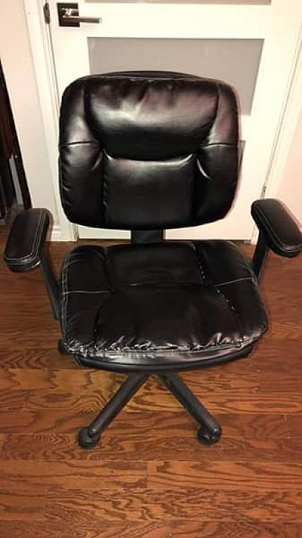 ad used black office chair