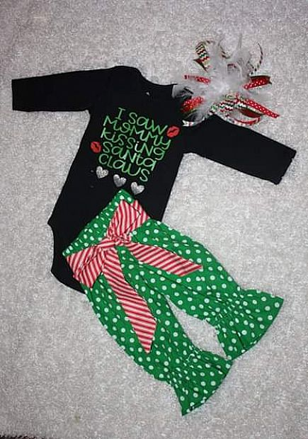 ad brand new christmas outfit 6-9 months