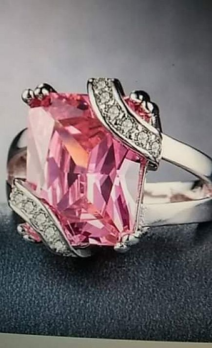 ad fashion women 925 sterling silver purple or pink sapphire gemstones rings size 6 7 8 9 10