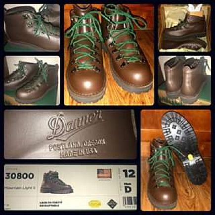 ad danner mountain light ii gore-tex boots (new)
