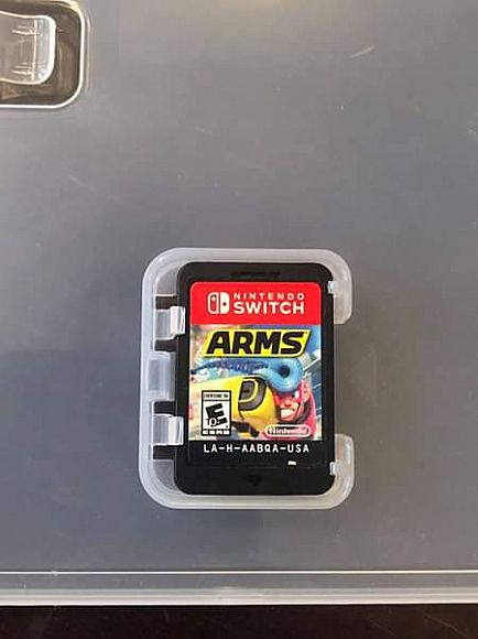 ad nintendo switch game arms