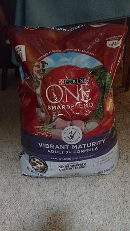 ad new unopened dog food purina one vibrant maturity