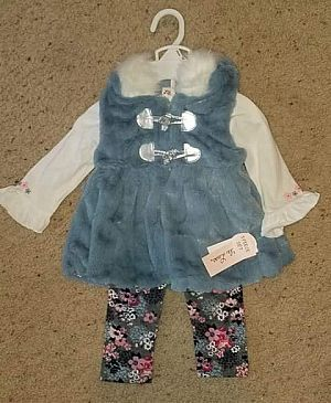 ad brand new with tags - 12 month 3 piece adorable set