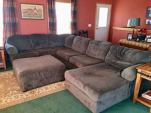 ad excellent condition ! well made no damage! just got married moving super comfortable, spot wash wit
