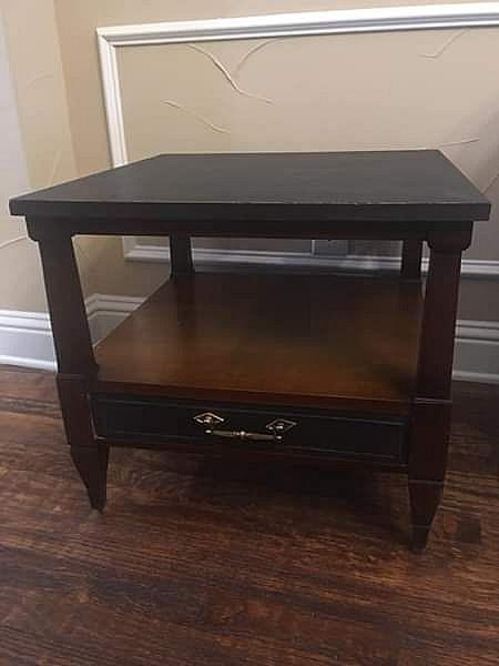 ad freshly remodeled antique mahogany side table by sutherland vintage