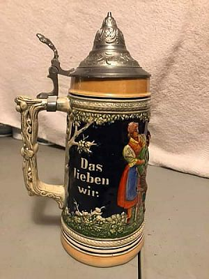 ad german beer stein