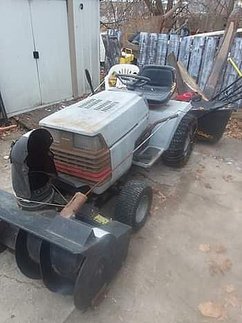 ad craftsman tractor with snowblower attachment