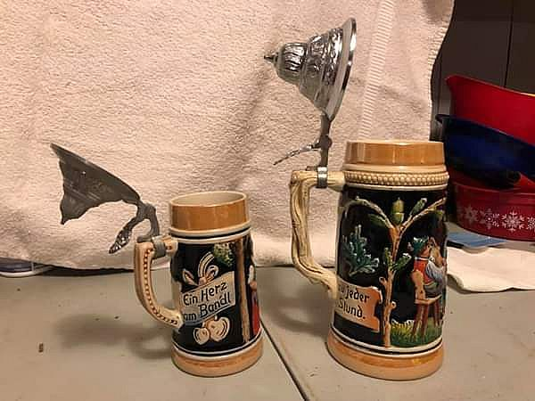 ad beer steins