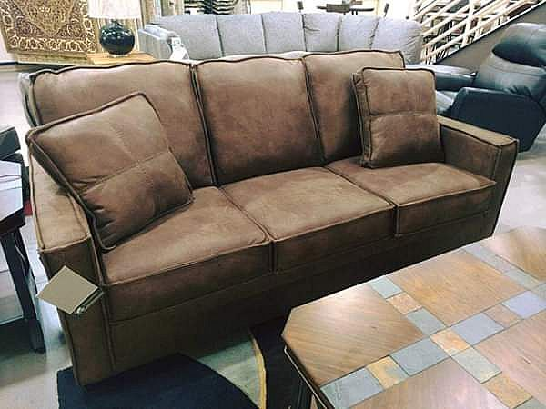 ad brown sofa / couch | just arrived
