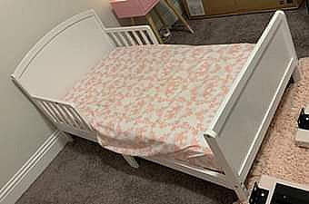 ad toddler bed with mattress