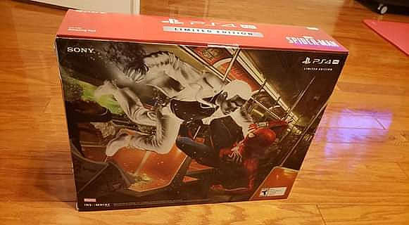 ad ps4 pro limited edition spider-man new in box