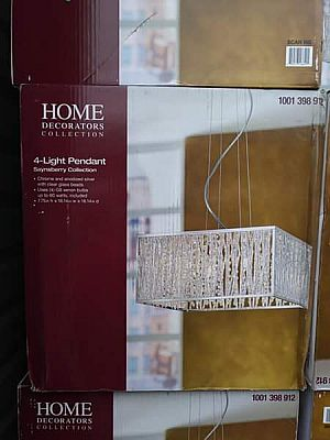 ad home decorators collection sophia collection 4-light chrome and crystal square shape pendant
