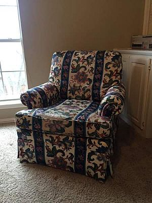 ad ethan allen arm chair and couch - diy